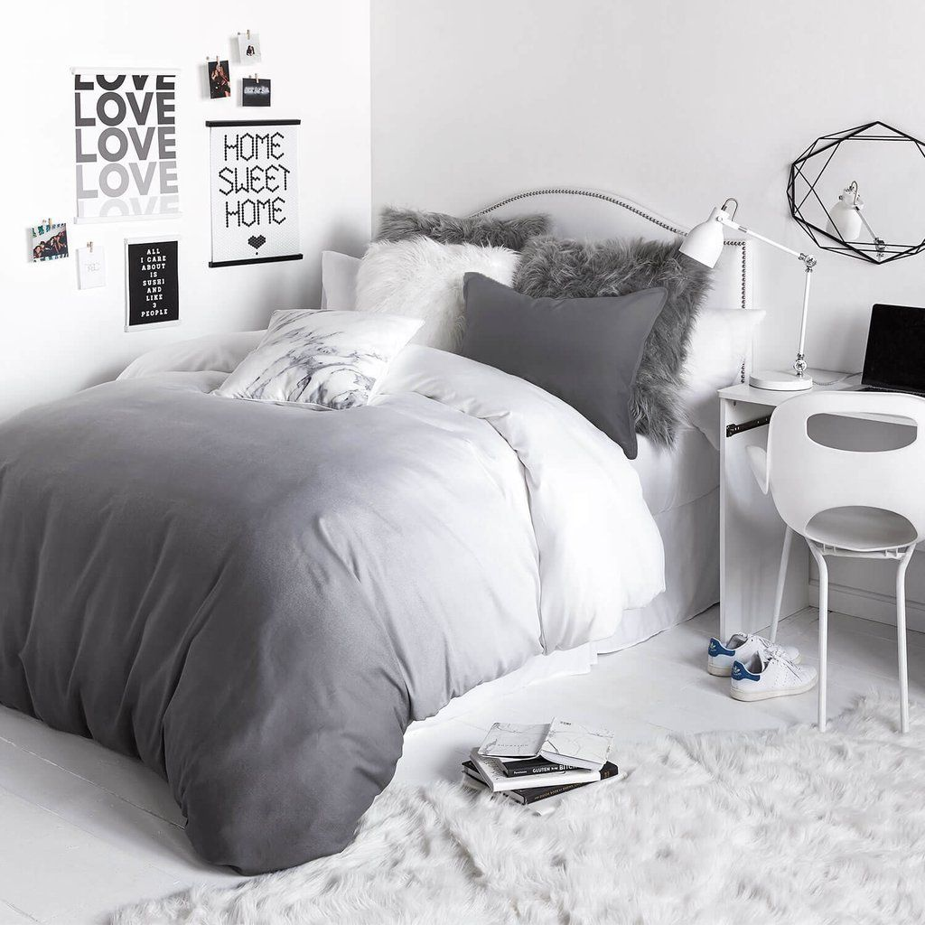 Grey Ombre Duvet Cover and Sham Set Twin Dream bedroom