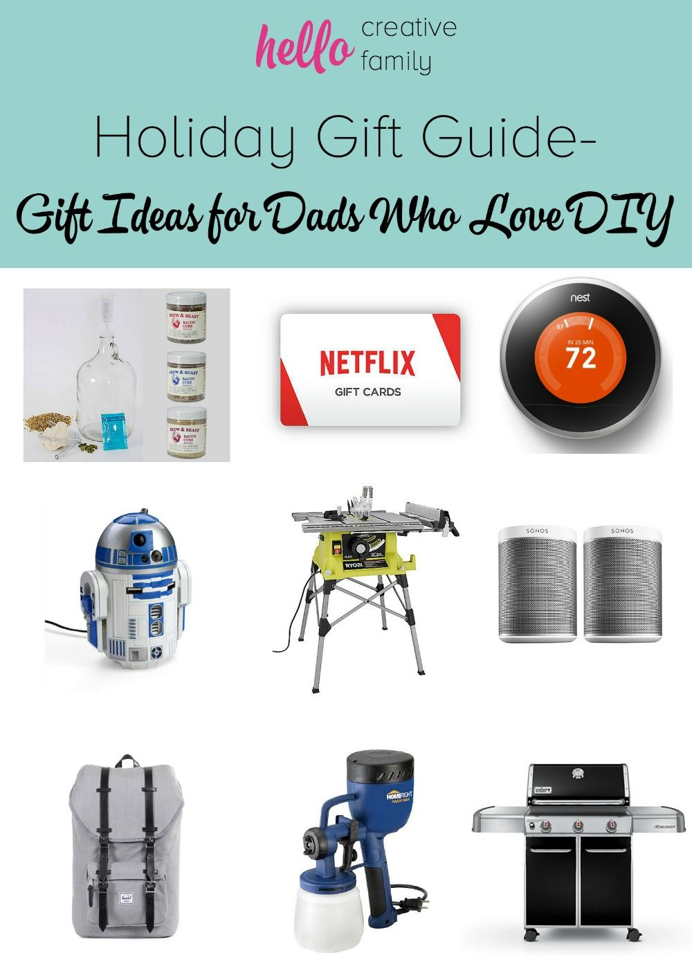 Holiday Gift Guide - Holiday Gift Ideas for Dads Who Love DIY with ...