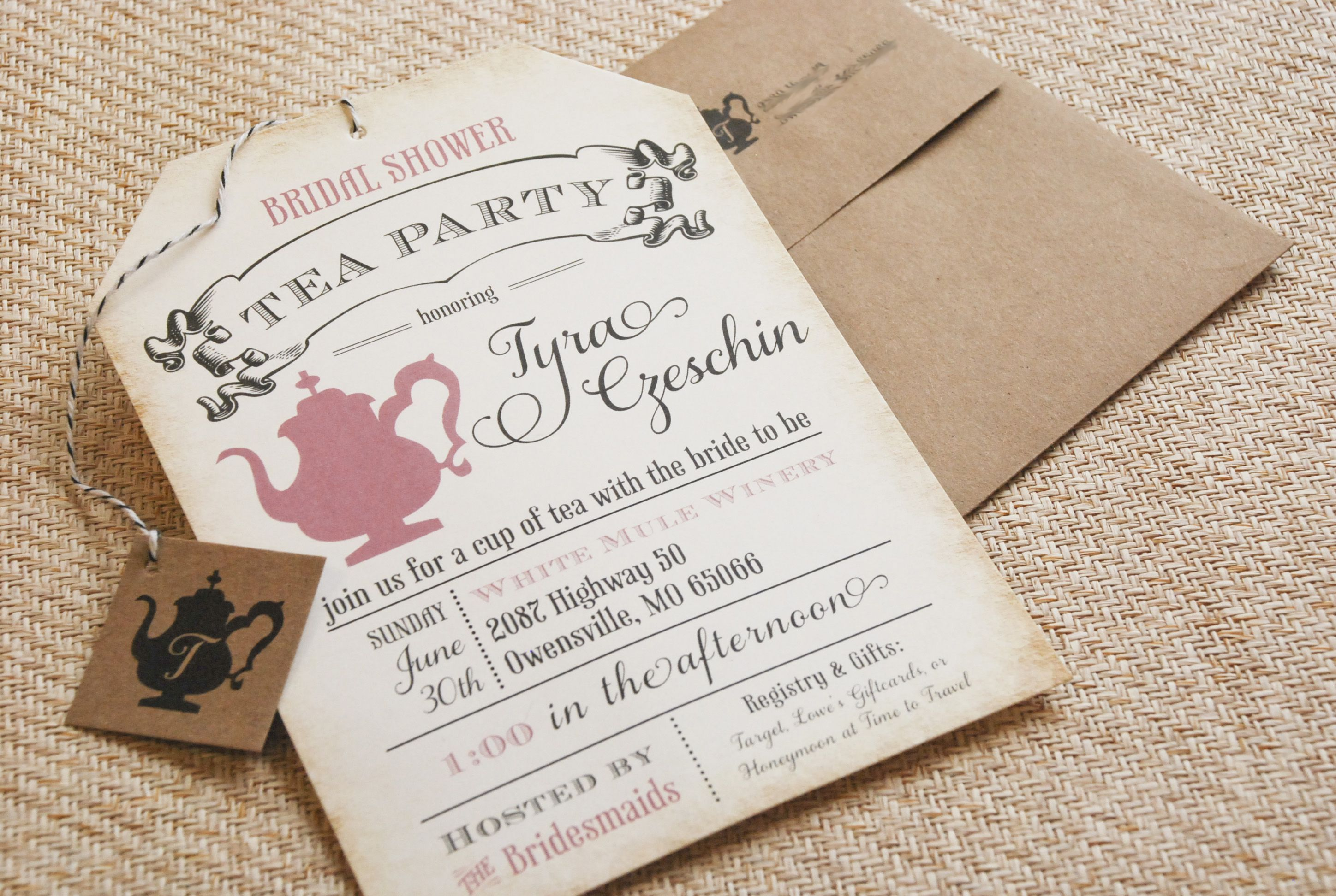 cool Best Bridal Shower Tea Party Invitations Printable ...