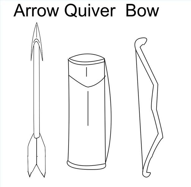 Elegant Bow and Arrow Drawing