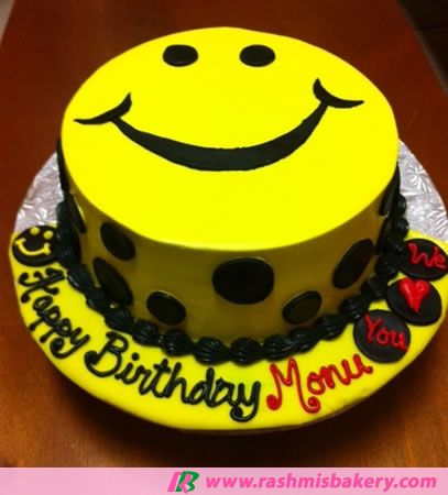 Smiley Face Cake With Images Cake Cake Decorating Kids Party