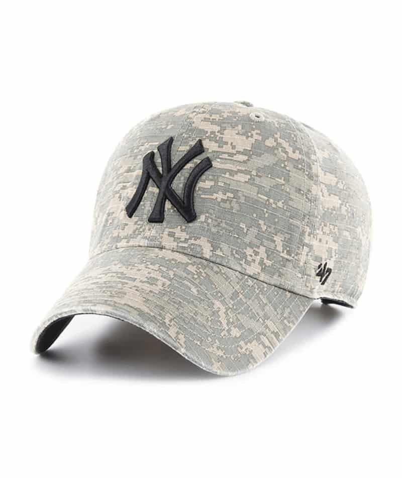 New York Yankees 47 Brand Digital Camo Clean Up Adjustable Hat Digital Camo 47 Brand Adjustable Hat