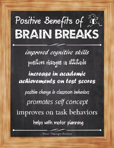 Free Brain Breaks Sign - Your Therapy Source