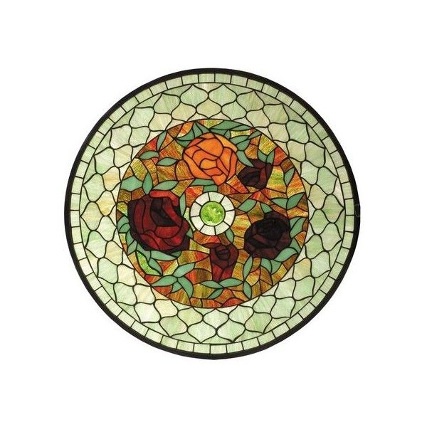 Meyda Tiffany 73103 Tiffany Window Home Decor Stained Glass Panels ($1,584) ❤ liked on Polyvore featuring home, home decor, stained glass panels, wall decor, round stained glass, windows stained glass, colorful home decor, meyda stained glass and meyda