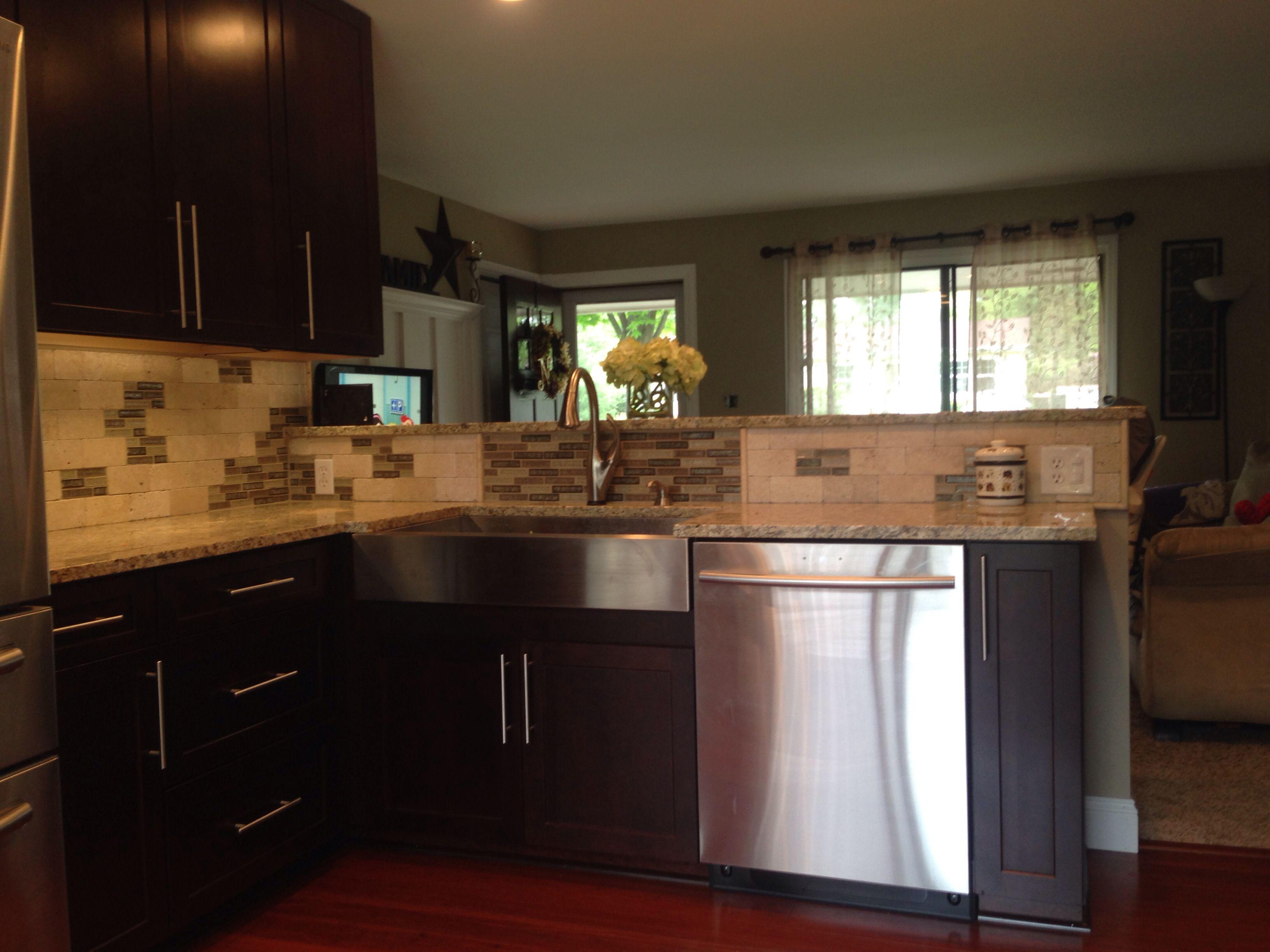 Shenandoah Cabinets Style Breckinridge In Cherry Java Kitchen Interior Cabinet Styles Shenandoah Cabinets