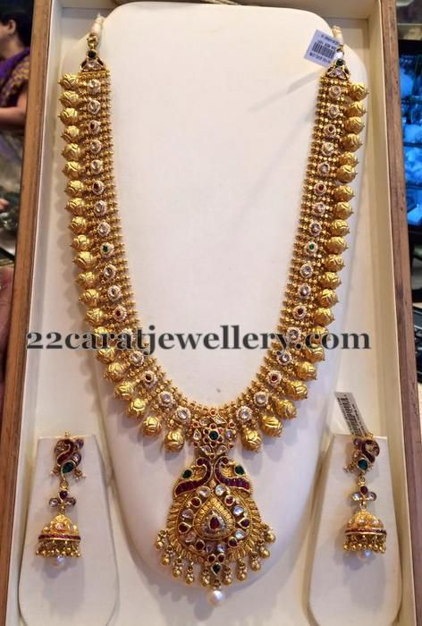 Antique New Pattern Chain Earrings Gold Jewelry Fashion Gold Necklace Indian Bridal Jewelry Gold Jewellery Design