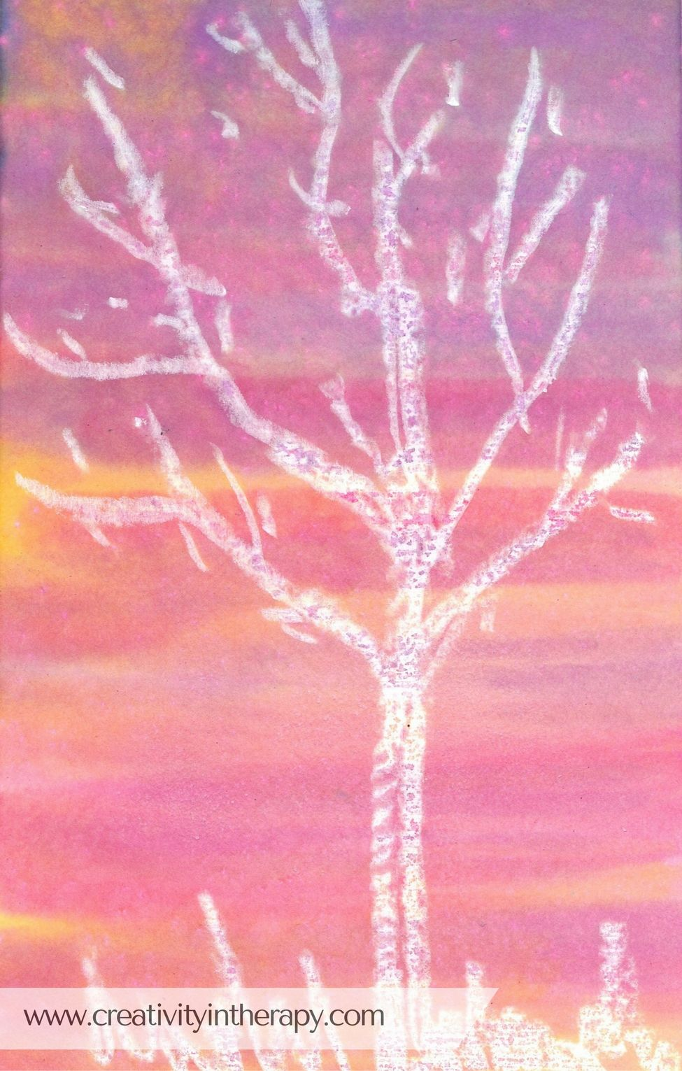 Watercolor Oil Pastel Resist Painting In Art Therapy Art