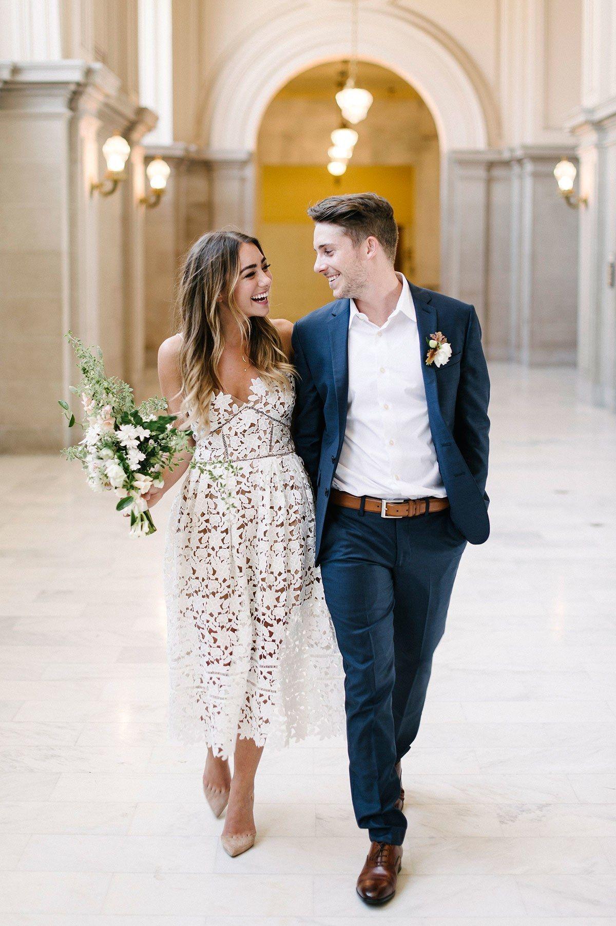 Short Wedding Dresses That Are Still Really Bridal | Brides