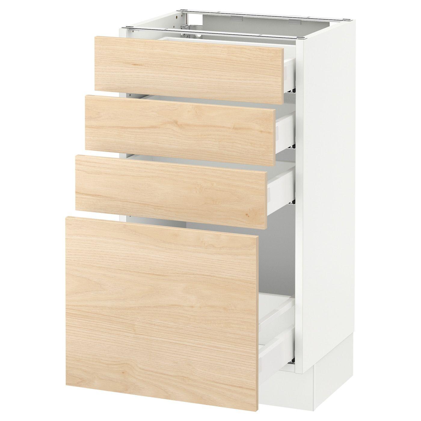 SEKTION Base with 4 drawers white Maximera