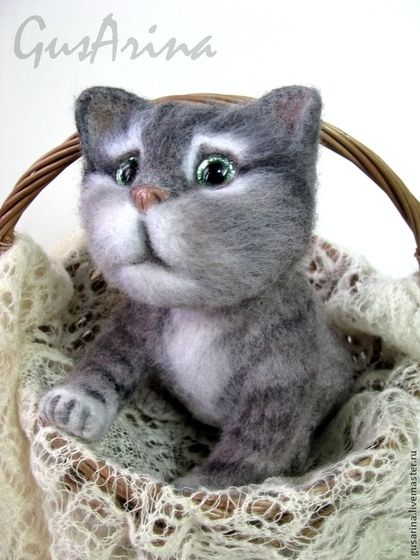 Котенок Васька - котенок,котенок из шерсти,котенок игрушка,котенок валяный