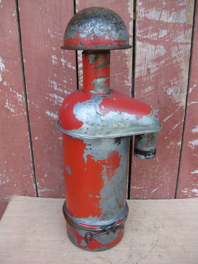 Antique Vintage IH Farmall H Oil Bath Air Cleaner with Cap