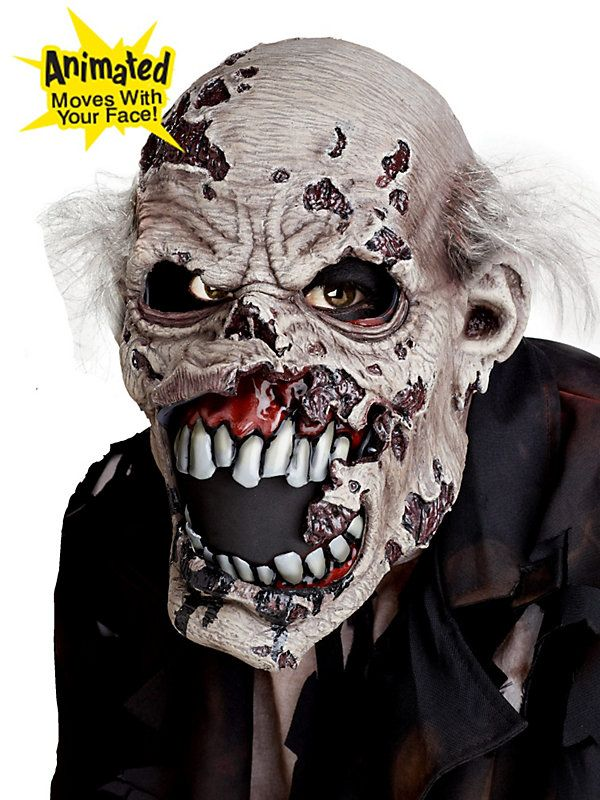 california costumes mens ani motion masks zombie ani motion mask assorted one size - Creepy Masks For Halloween