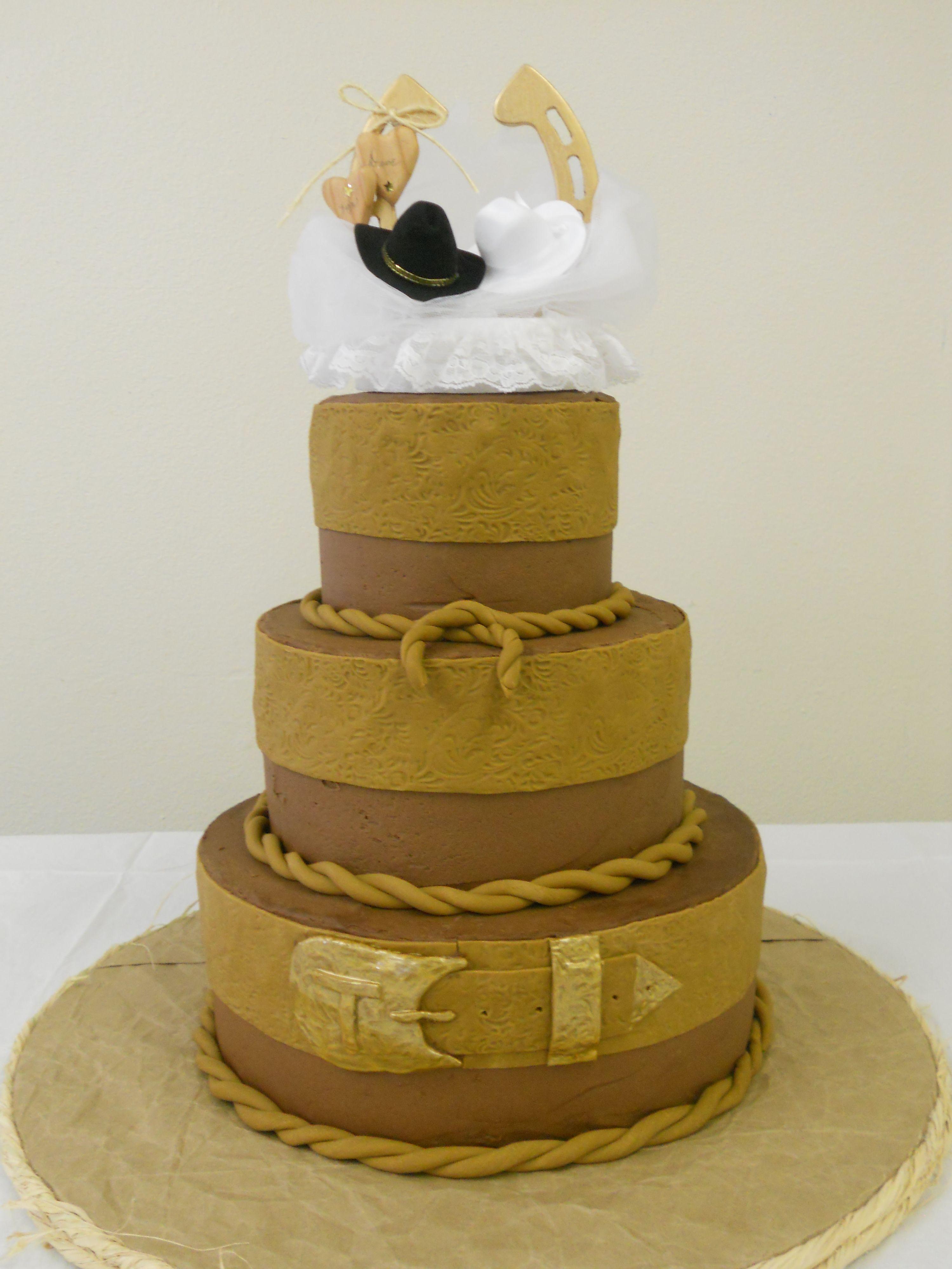Western wedding cake | Things I love | Pinterest | Western wedding ...