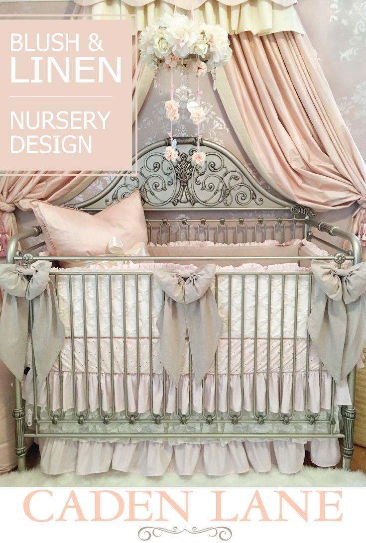 Harlow's Blush Nursery Blush pink, Vintage style and
