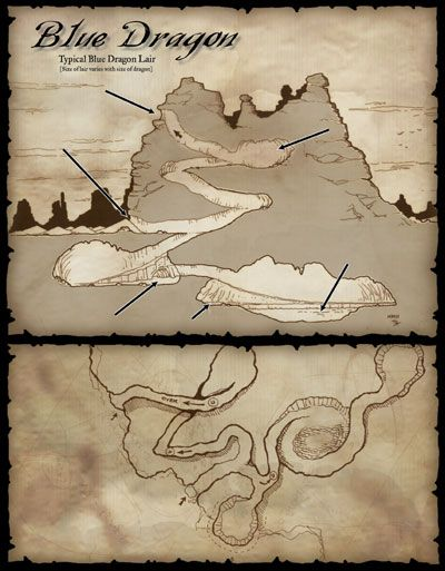 Blue Dragon Dd: Dnd Dragons, Dungeon Maps, Cartography Map