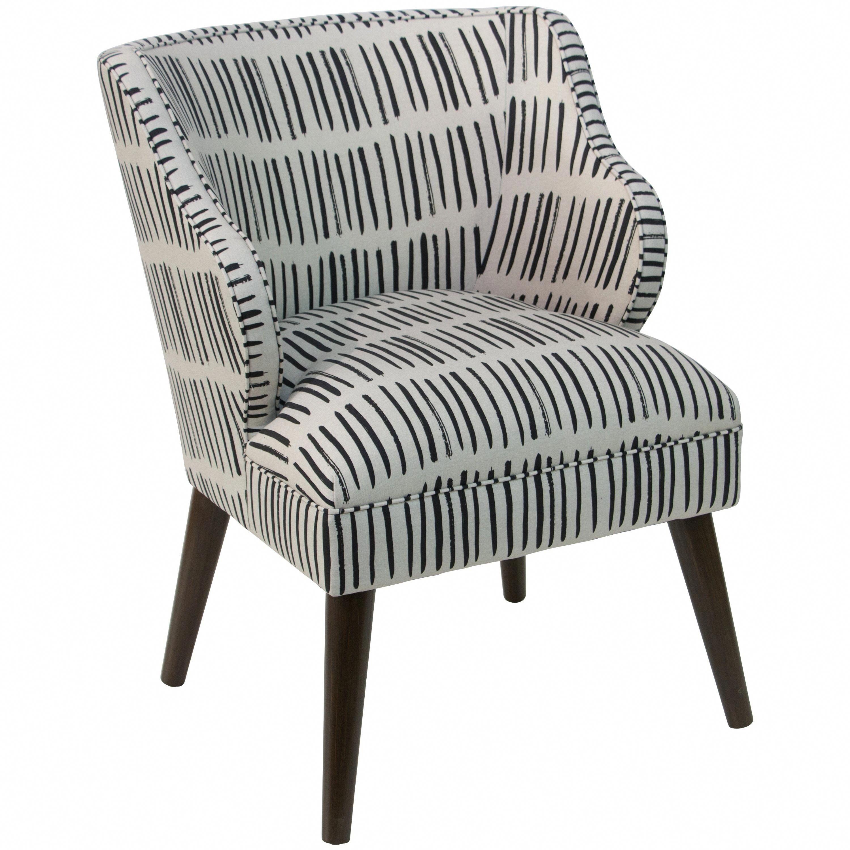 Fine Skyline Furniture Modern Accent Chair In Dash Black White Machost Co Dining Chair Design Ideas Machostcouk