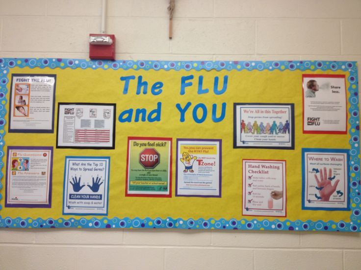 school nurse bulletin board flu | bulletin boards