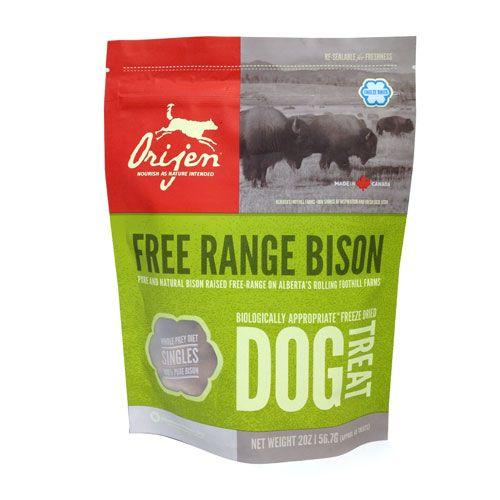 Orijen Free Range Bison Freeze Dried Dog Treats Freeze Dried Dog