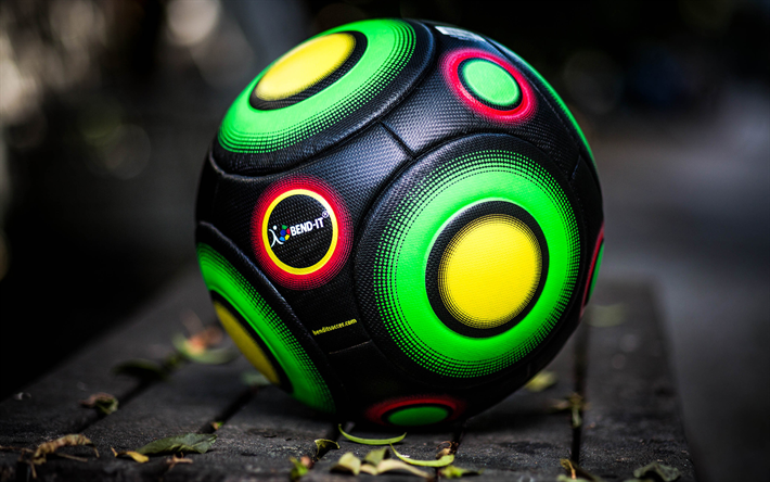 Download Wallpapers Soccer Ball Bend It Soccer Football Knuckle It Pro Black Soccer Ball Size 5 Besthqwallpapers Com Soccer Balls Sports Wallpapers Soccer Ball