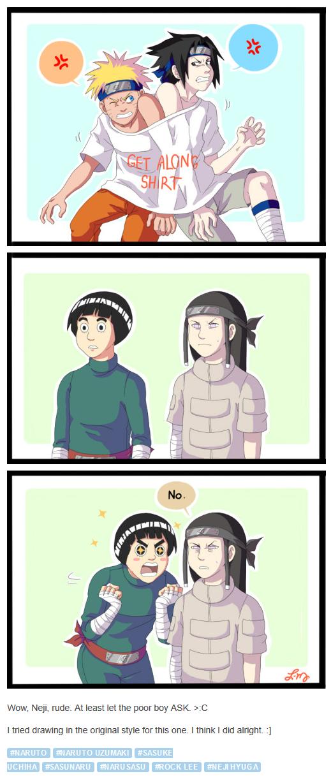 <3 Sasuke, Naruto, Lee & Neji