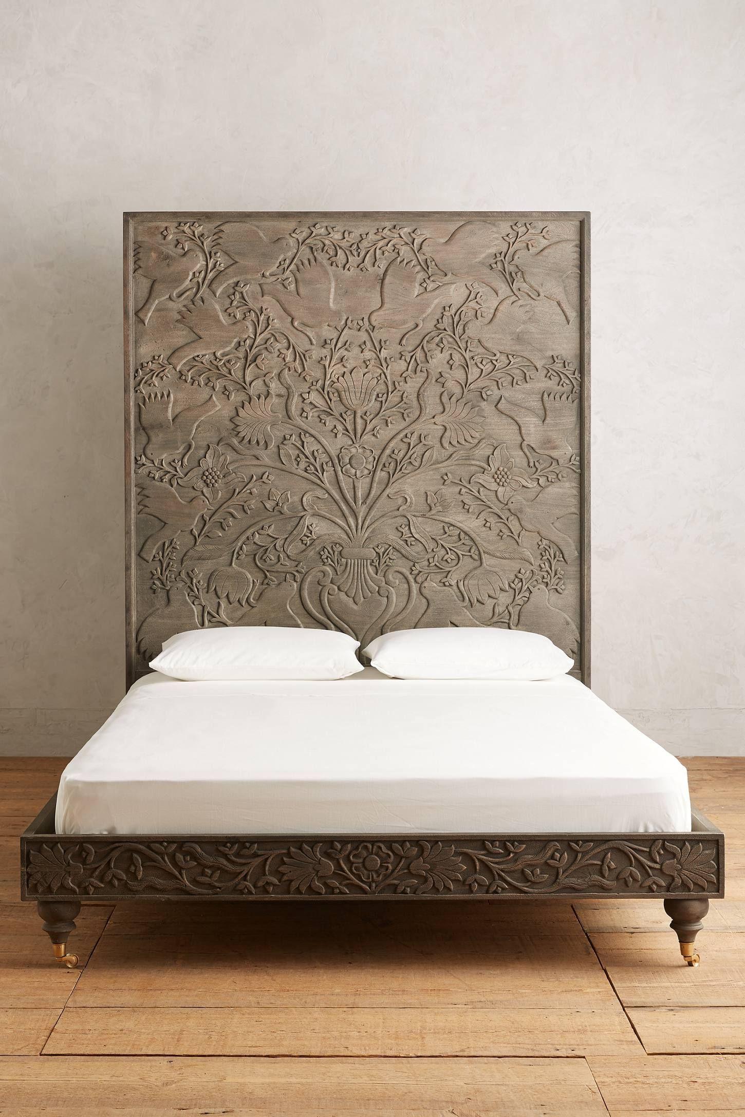 Handcarved Odelina Bed Bed Carved Beds Living Furniture