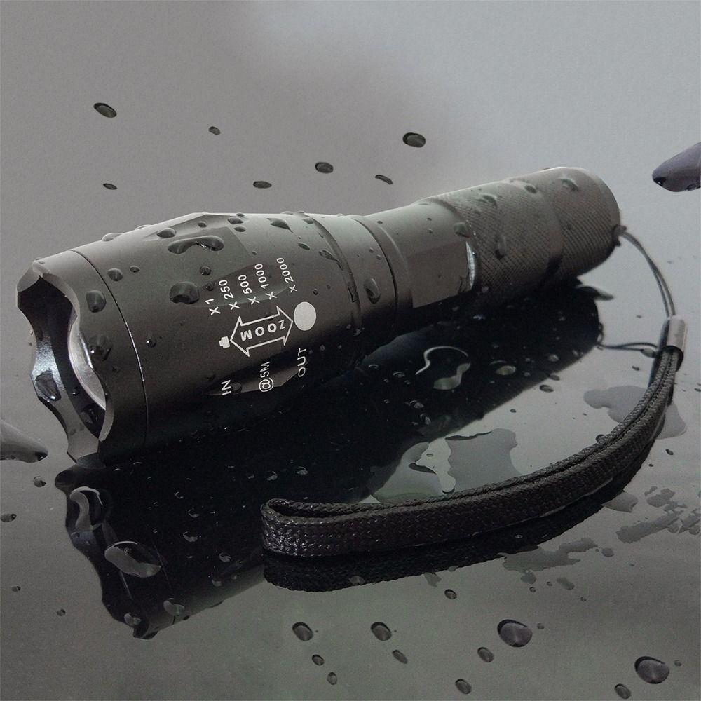 T6 Outdoor waterproof tactical flashlight,Adjustable Focus
