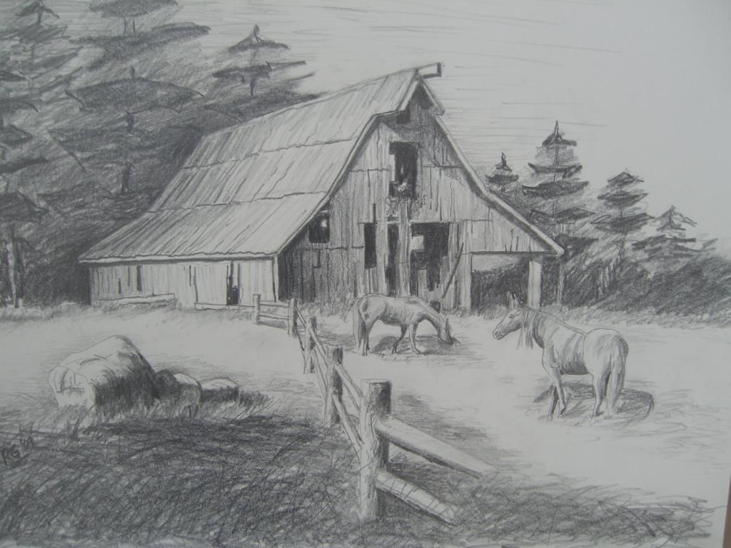 Pencil Sketches Of Old Barns Pencil Drawings Of Barns Drawing Art Library Landscape Drawings Barn Drawing Pencil Drawings