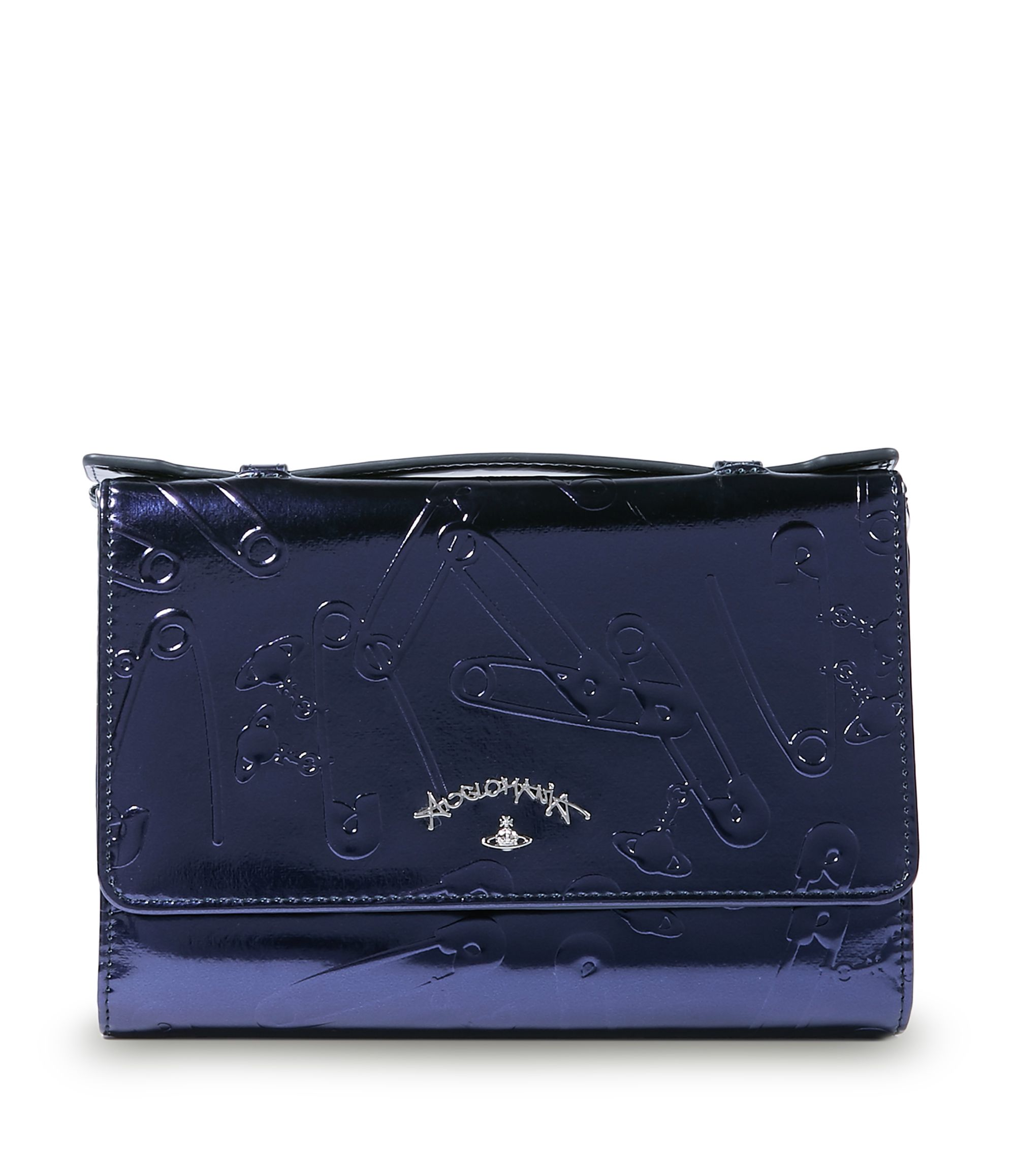 6ac86f470160 VIVIENNE WESTWOOD Blue Metal Safety Pin Travel Bag 321249.   viviennewestwood…