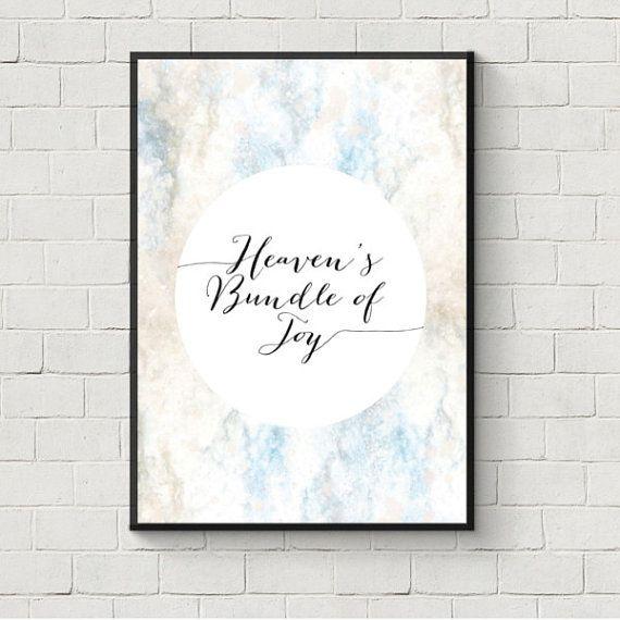 Heavens Bundle of Joy / Baby Wall Art / Baby Decor by brandingnest, $5.00