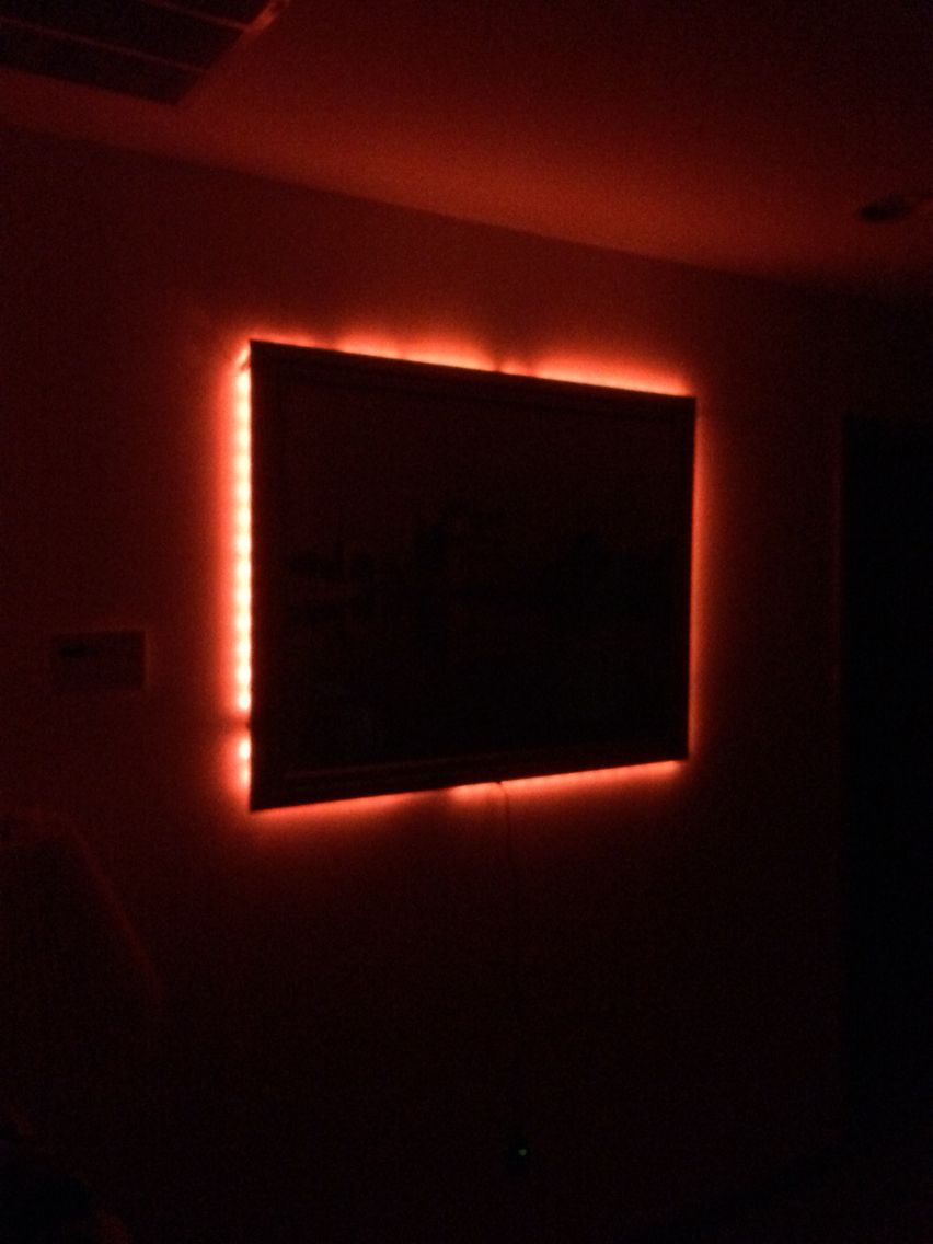 Behind Picture Frames Could Be Used As A Night Light Night