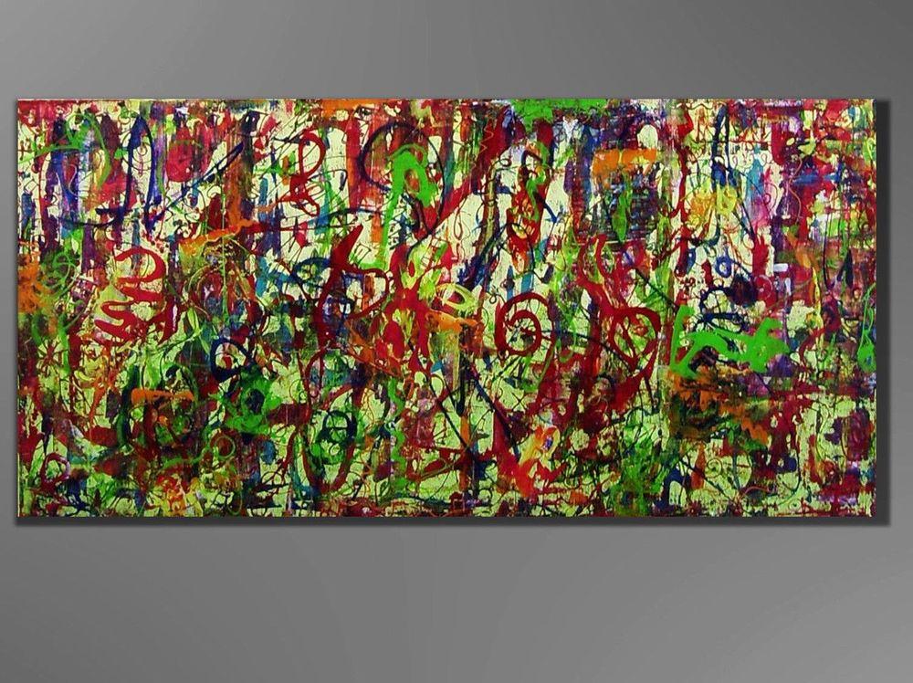 Kunstgalerie Winkler Acrylbilder Abstrakt Leinwand Gemälde Original ...