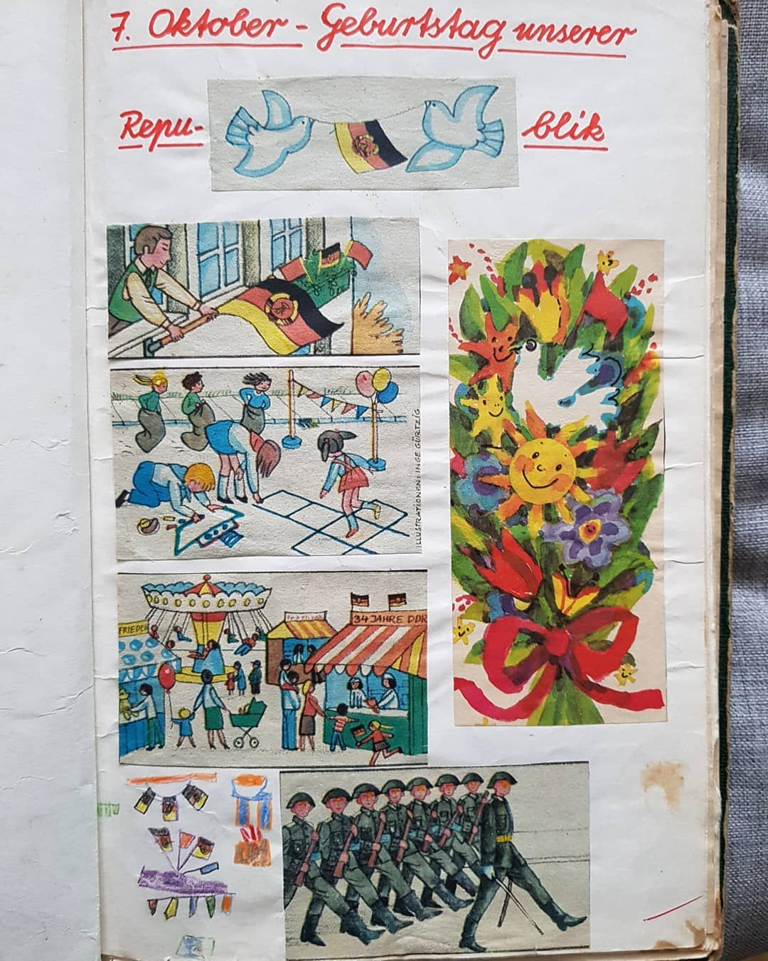 Heimatkunde 1984 Omg Ddr Oktober Feiertag Geburtstag