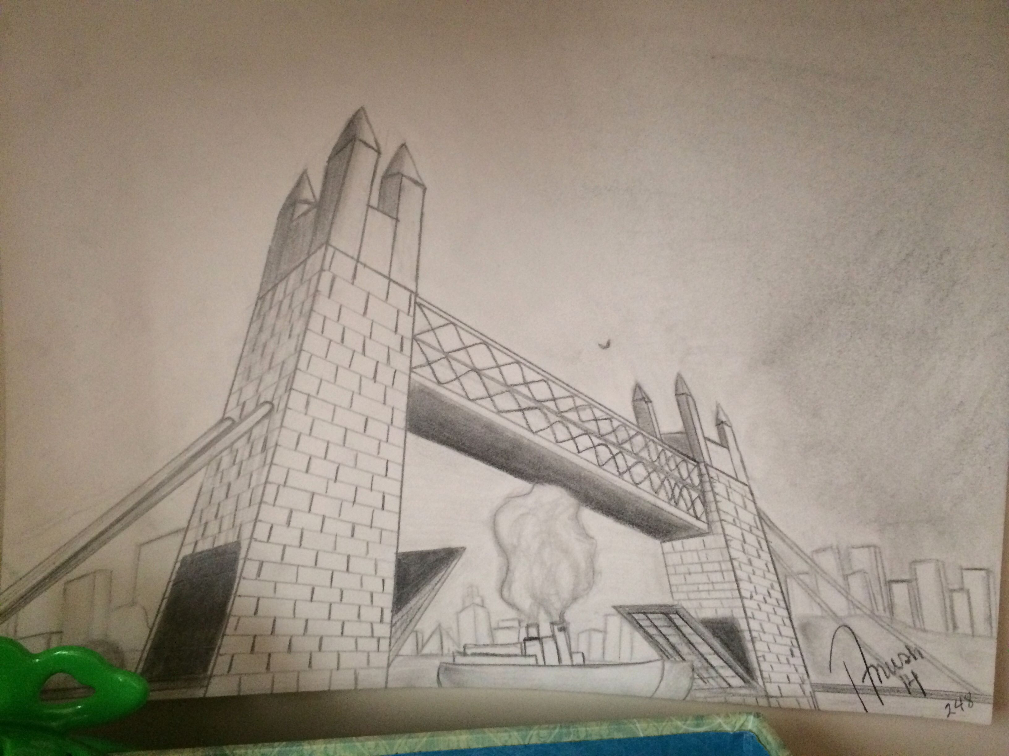 City, 3 perspective drawing