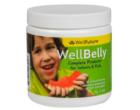 WellBelly is a unique blend of eight different non-dairy probiotics that target intestinal, digestive and immune health in infants and children. WellBelly is a targeted blend of probiotics specifically for infants and kids without the hard to digest lactic acid that many strains of probiotics have. Our probiotics support intestinal health, digestive balance and the immune system without a lot of the D form of lactic acid that can irritate immature digestive tracts.   Dysbiosis is an ...