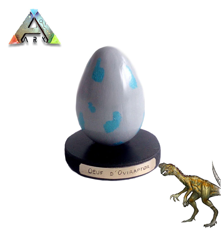 ARK survival evolved: Œuf d'Oviraptor  En argile 100