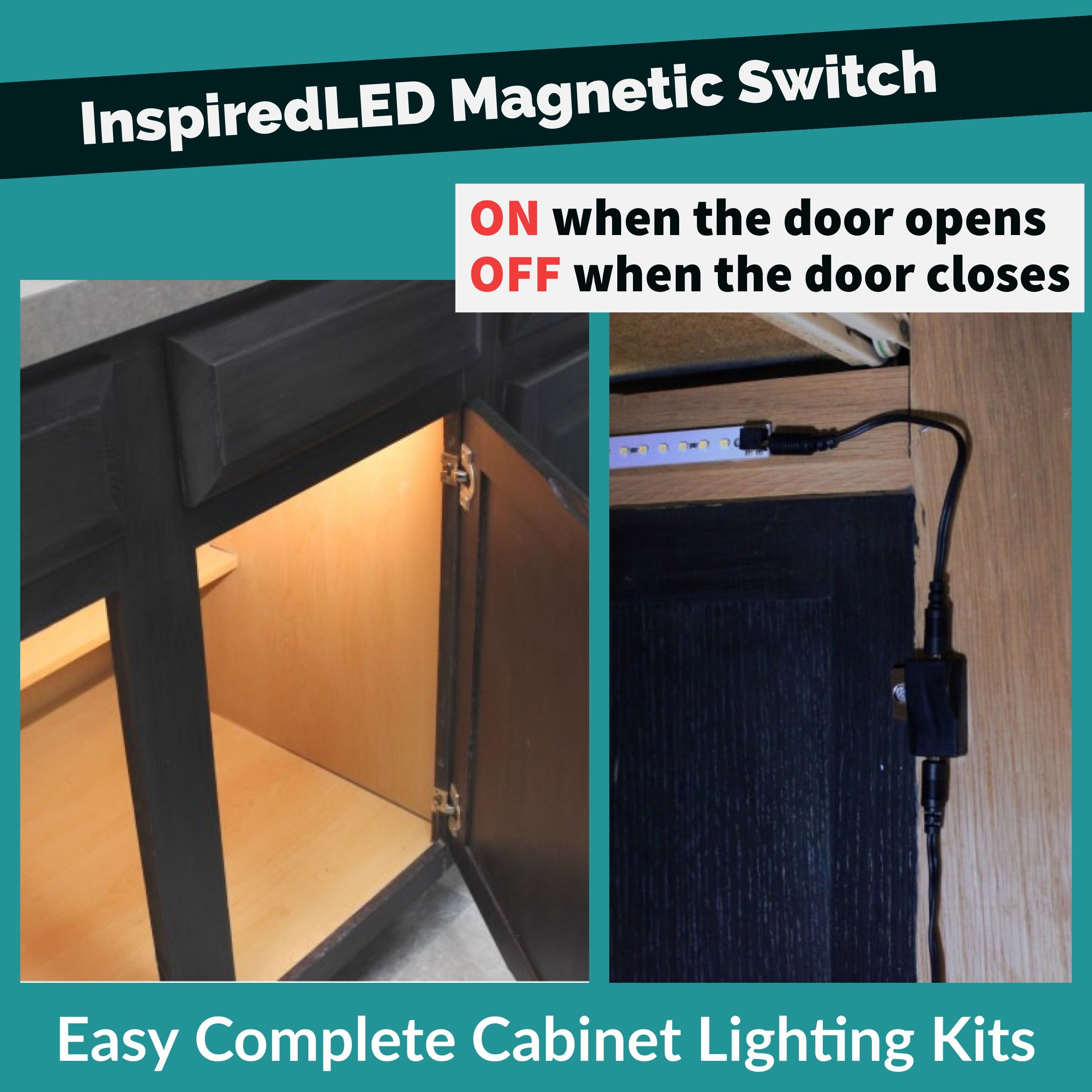 Inspiredled Magnetic Switch On When The Door Opens Off When The Door