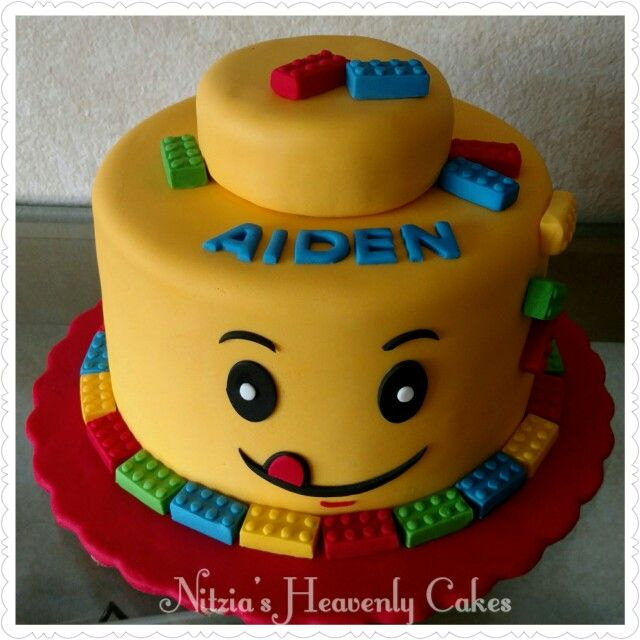 Yellow head lego cake My cakes Pinterest Lego Cake and Birthdays