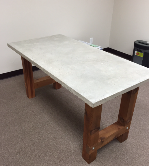 Concrete Desk Top With Foam Core