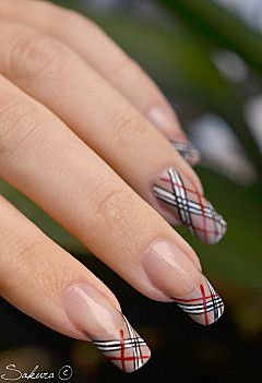 Alternate Burberry Nail Design