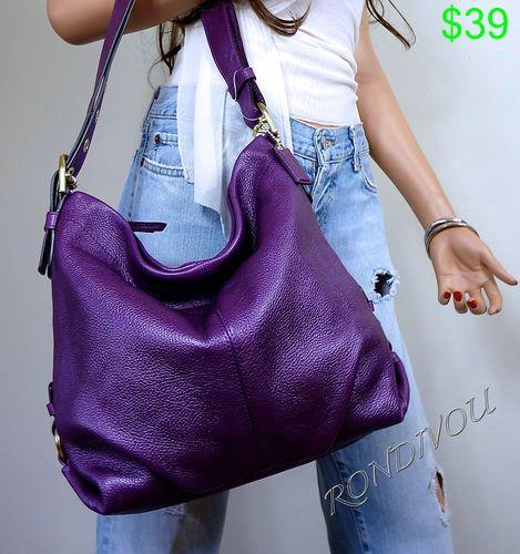 Gorgeous Coach Purple G Leather Shoulder Crossbody Hobo Tote Bag Purse Ebay