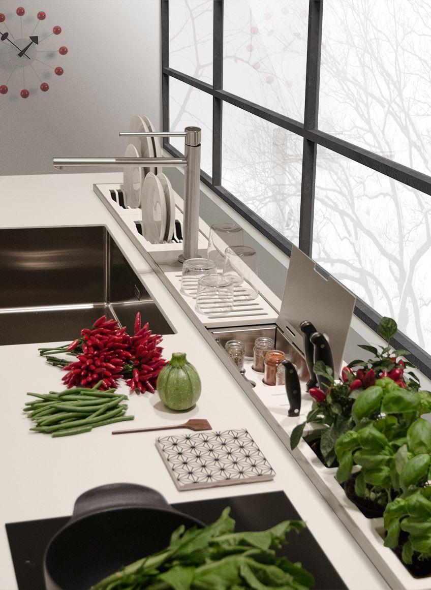 EasyRack Kitchen - canale attrezzato per top cucine