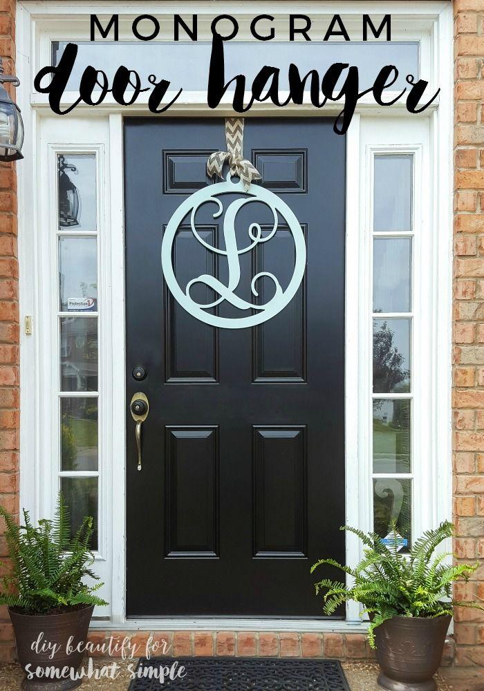 monogram door hanger somewhat simple