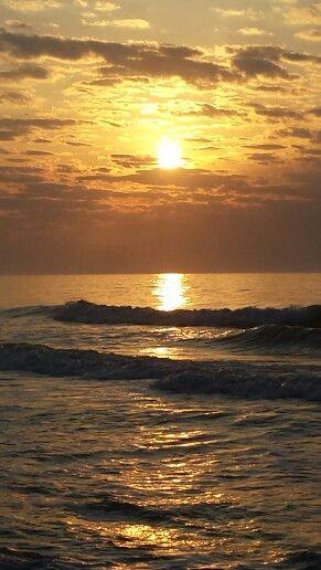 Beautiful sunrise on the Atlantic Ocean :)