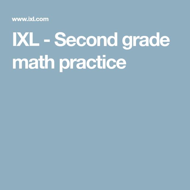 Ixl Second Grade Math Practice Second Grade Math Learn Math Online Ixl Math