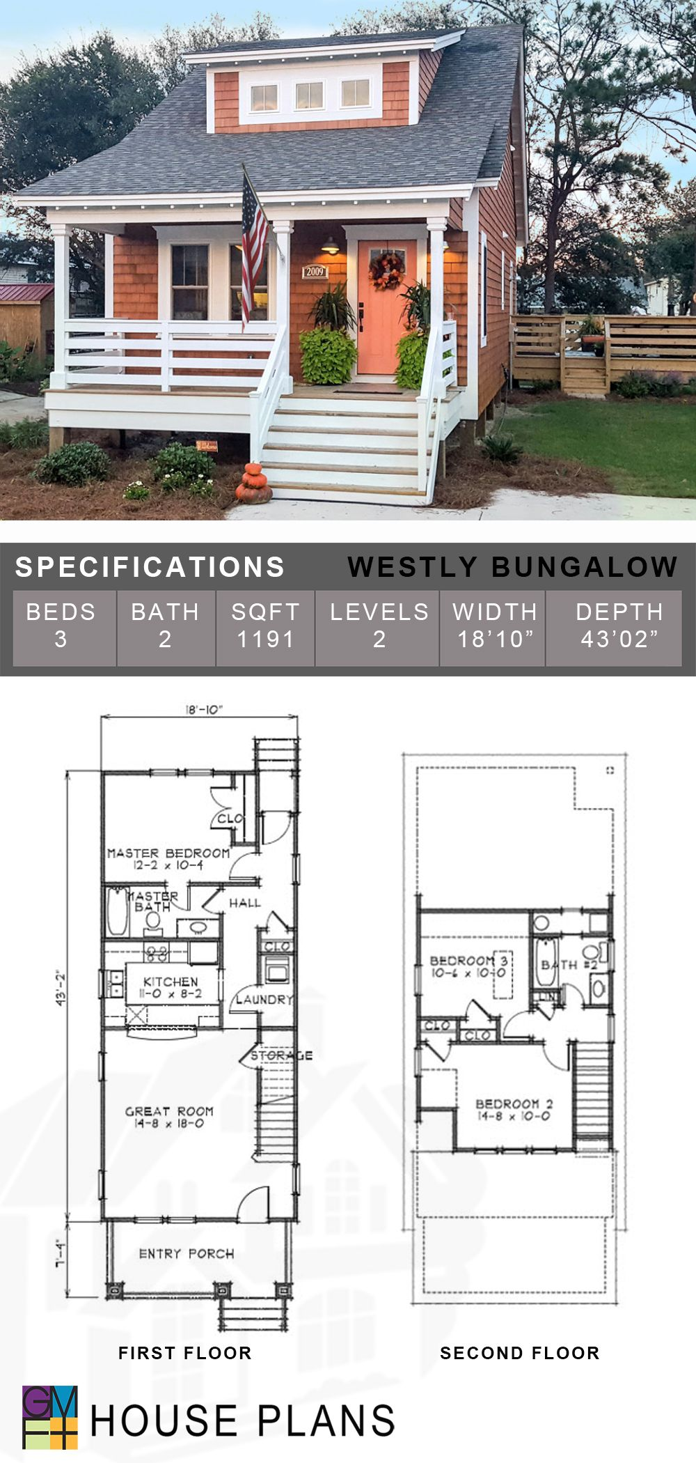 Westly Bungalow New House Plans Architect House Colorado Homes