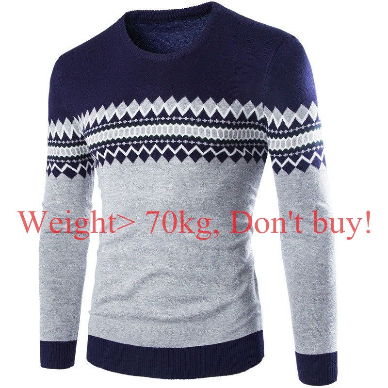 2017 New Autumn Winter Round Neck Pullover Men Slim Fit Knitted Sweater Pull Homme Jersey Hombre Mens Sweaters Fall Knitwear