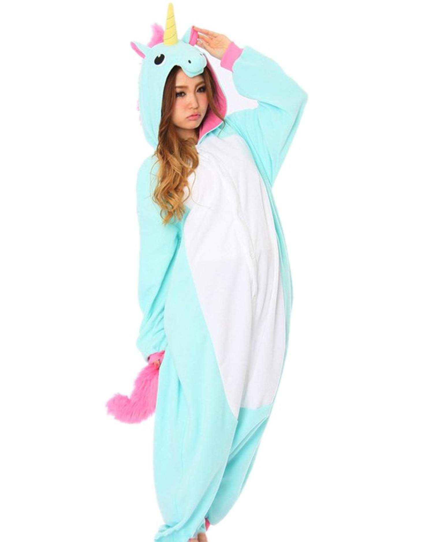 651458539 DAYAN New Pajamas Anime Costume Adult Animal Onesuit Unicorn Cosplay ...