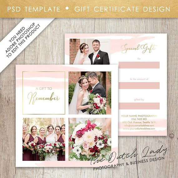 Photography Gift Certificate Template Photo Gift Card - photography gift certificate template