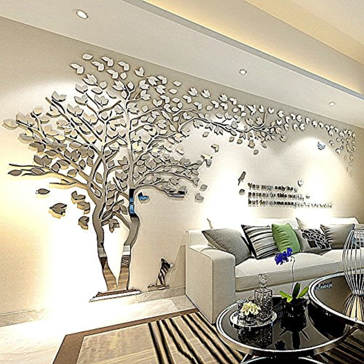 Tree Birds 3D Wall Decals for Living Room Wall Murals ...