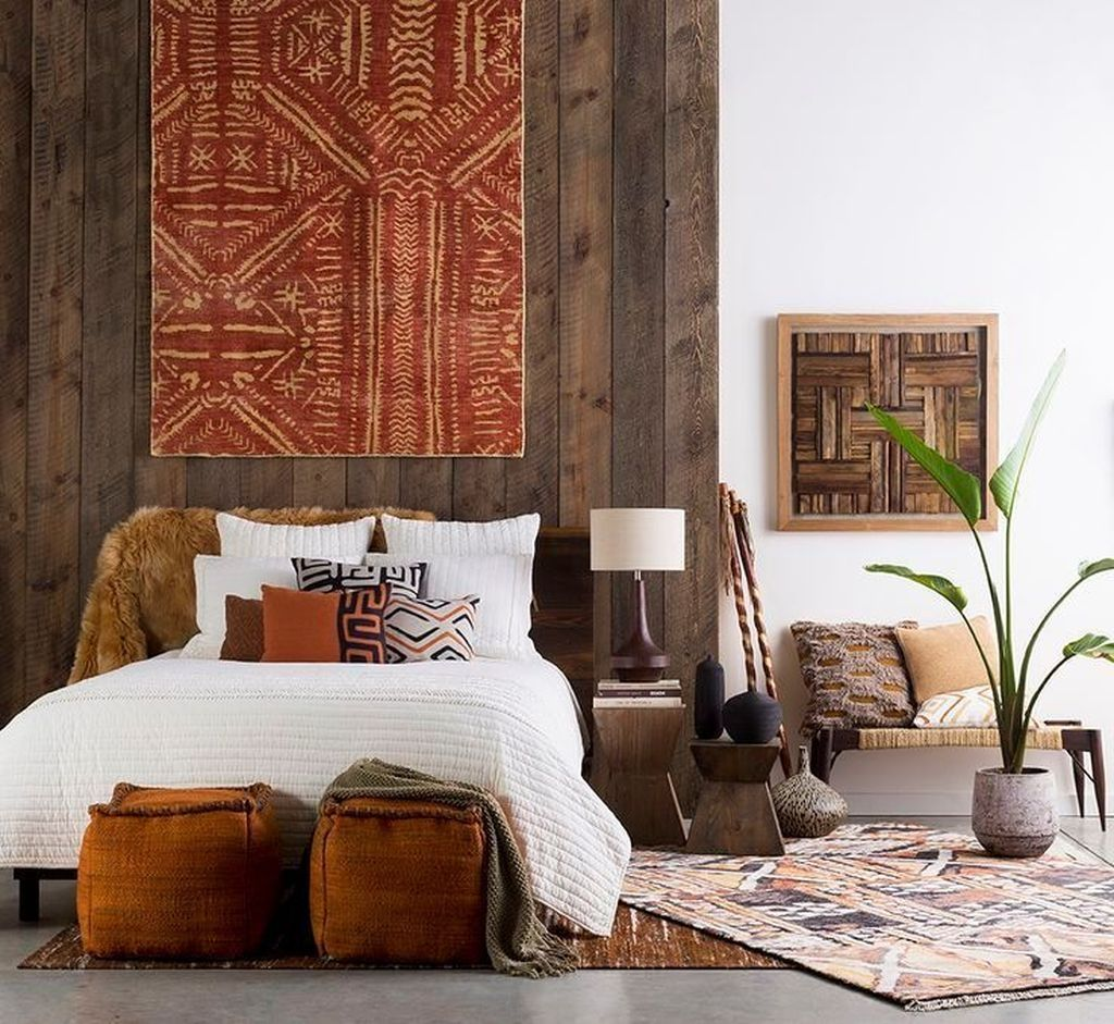 44 Beautiful African Bedroom Decor Ideas images